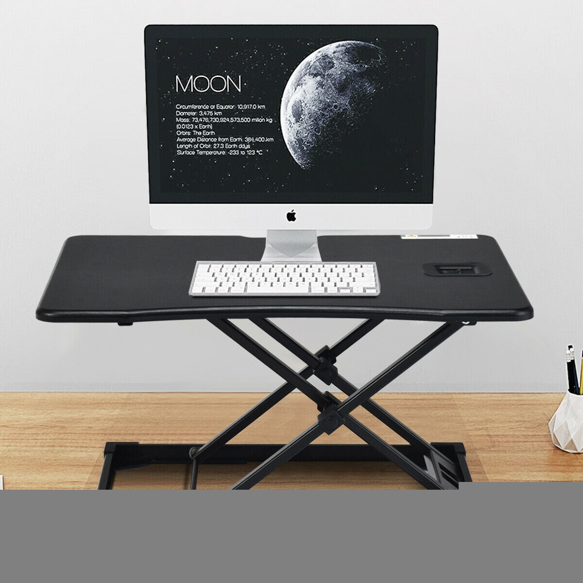 Height Adjustable Standing Computer Desk-Black