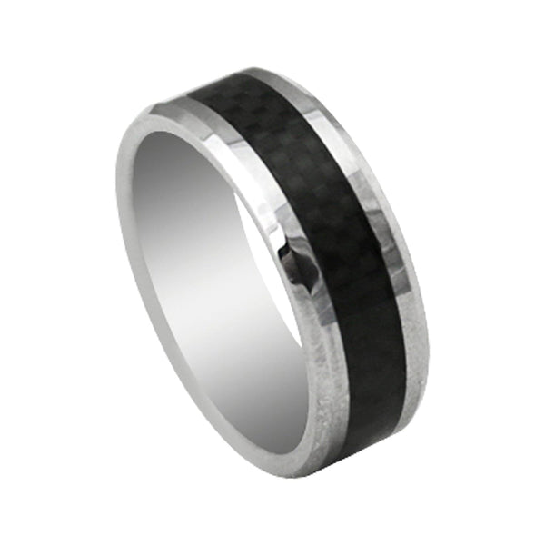 TRISTAN Carbon Fiber Ring | The Medieval Store