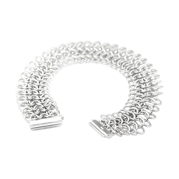 Chain Mail Bracelet Sterling Silver | The Medieval Store