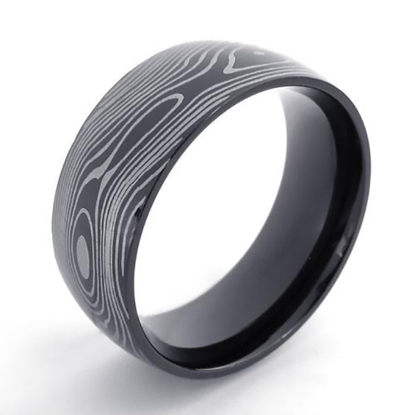 Damascus Pattern Ring | The Medieval Store