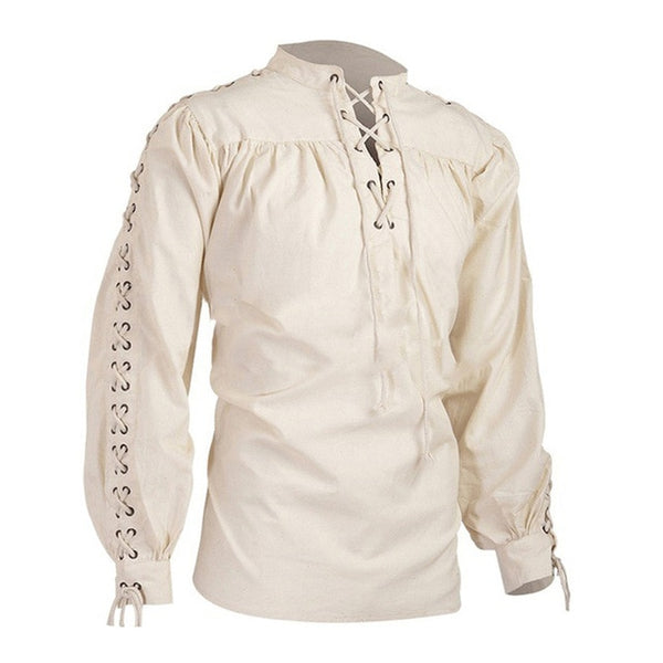 Medieval Gothic Shirt High Neck