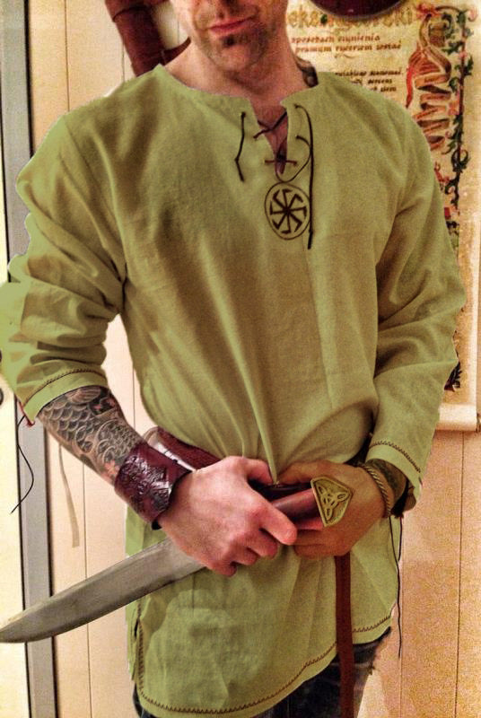 Viking Tunic Short Sleeves With Belt | The Medieval Store