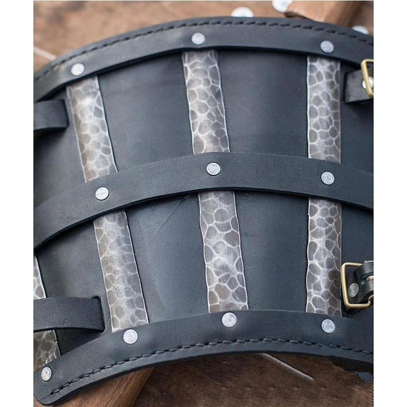 Gothic Leather Arm Riveted Bracer | The Medieval Store