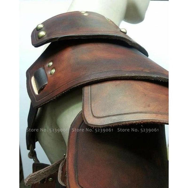Gothic Medieval Leather Shoulder Armor | The Medieval Store
