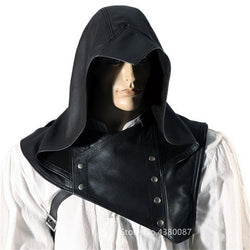 Medieval Ranger Leather Mantle Hood | The Medieval Store