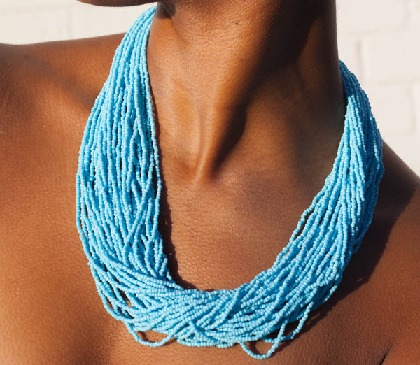 SHIP TO ME - SPELMAN BLUE NECKLACE