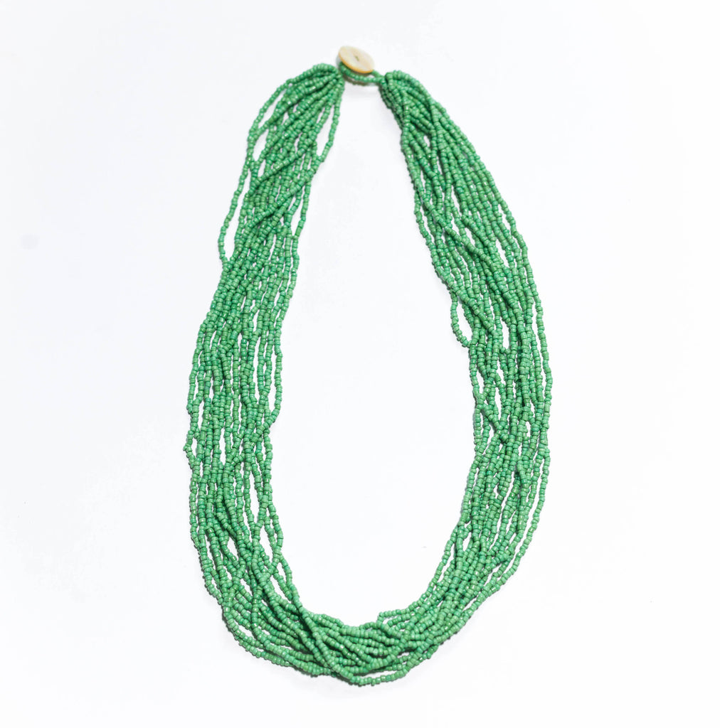 Emerald Forest - Original glass bead necklace