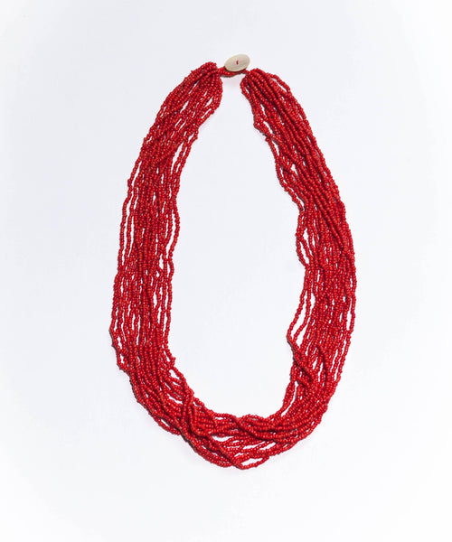 Red - Original glass bead necklace