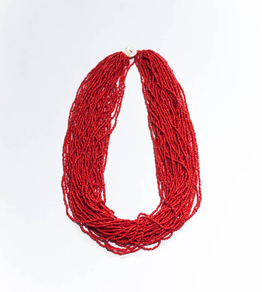 Statement(60cm) in Red with our Limited Edition Bead