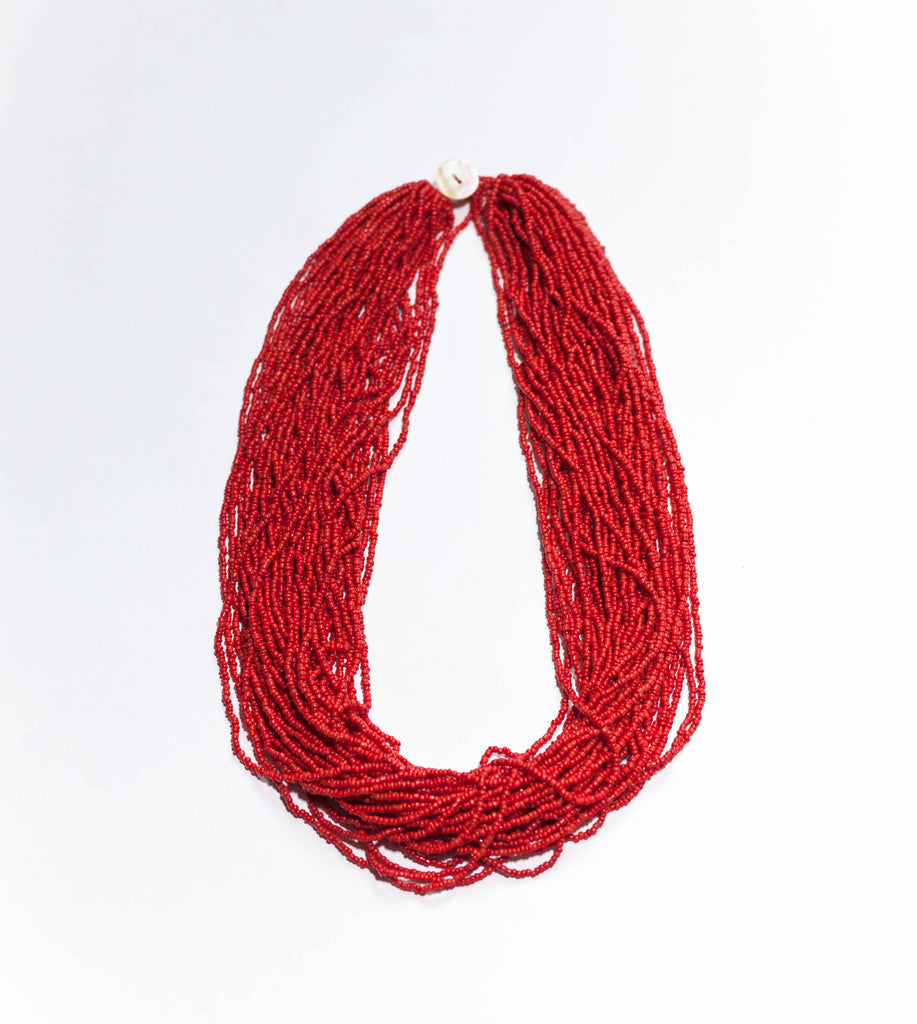 Compact (50cm) Statement in Red (larger Bead)