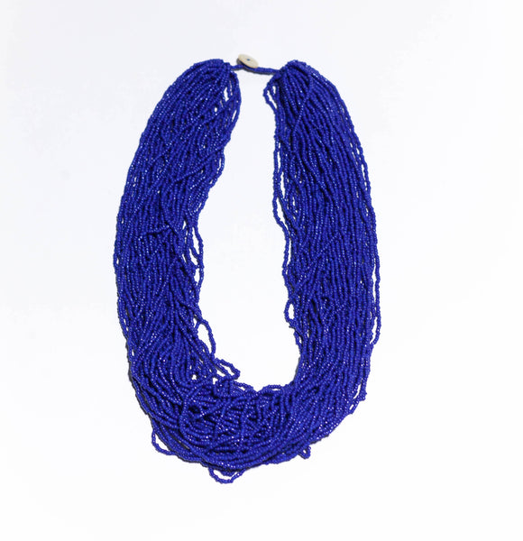 Compact (50cm) Statement in Deep Sea Blue With Limited Edition Bead