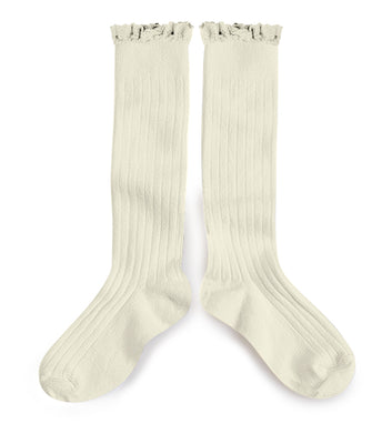 Collégien Lace Trim Knee High Socks
