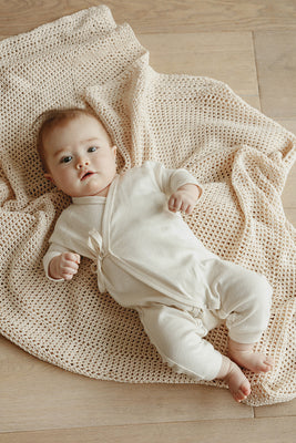 Noé Wrap Onesie - Natural
