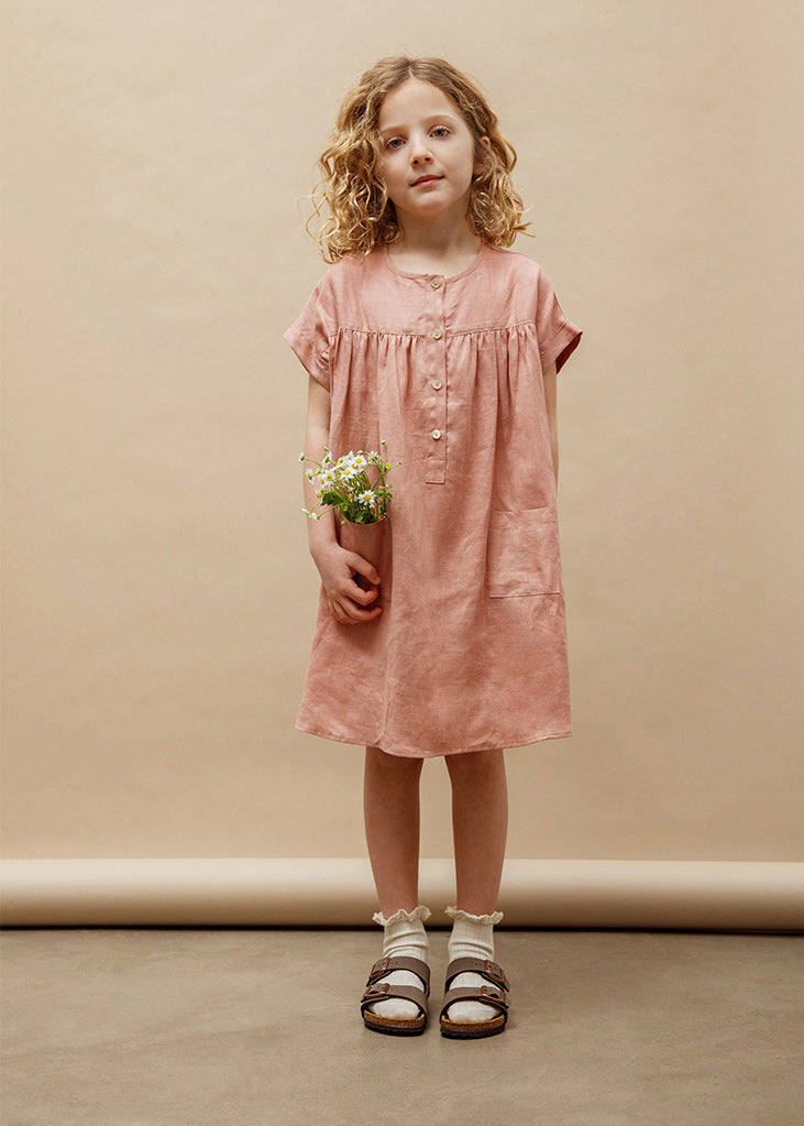 Emmanuelle Henley Dress - Tea Rose