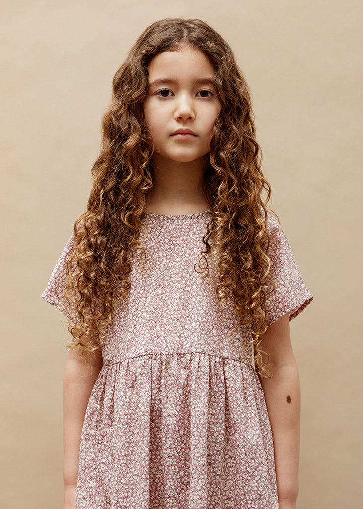 Marie Everyday Dress - Feather Fields Pink