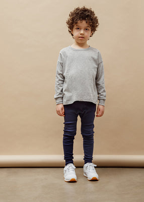 Felix Drop Shoulder Crew - Heather Grey
