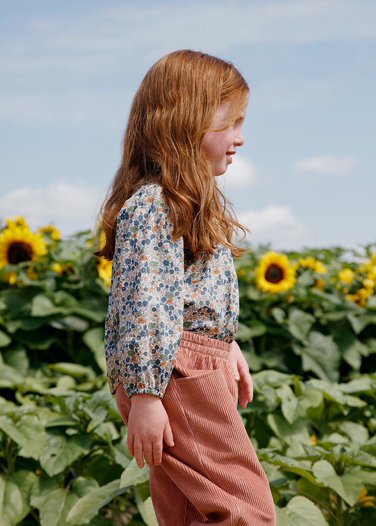 Esther Peter Pan Blouse - Poppy Forest