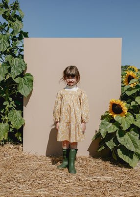 Maelle Square Neck Dress - Autumn Blooms
