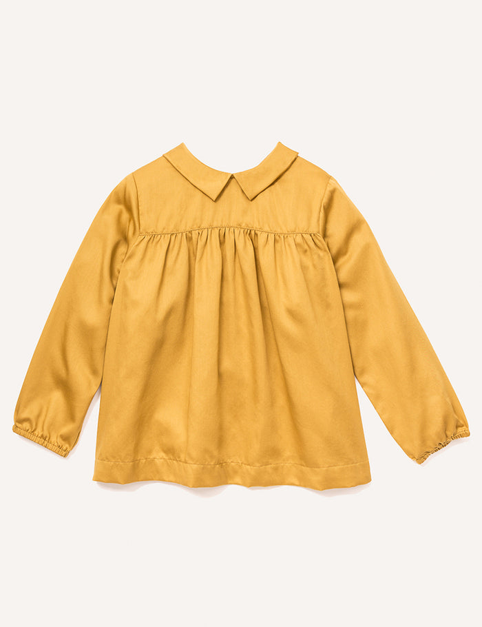 Agathe Pointy Collar Blouse - Marigold