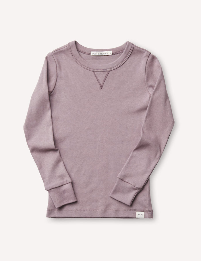 Dominique Long Sleeve Crew - Mauve