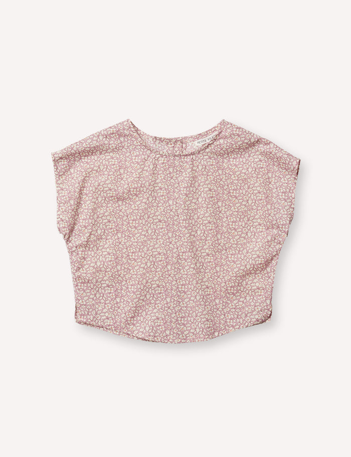 Lou Shell Top - Feather Fields Pink