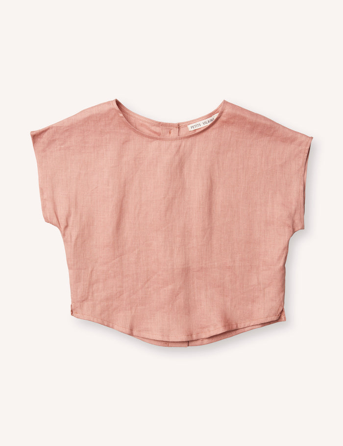 Lou Shell Top - Tea Rose