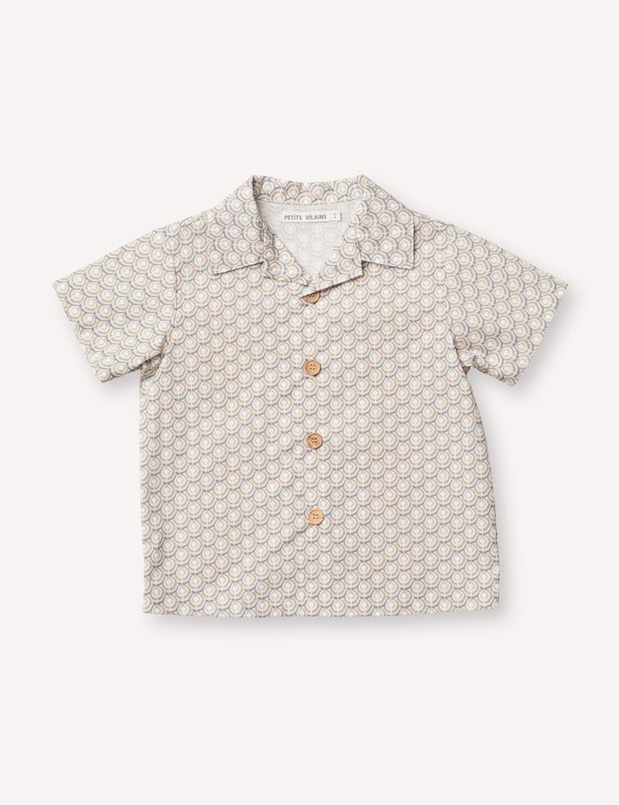 Adrien Aloha Shirt - Noble Geo Tan