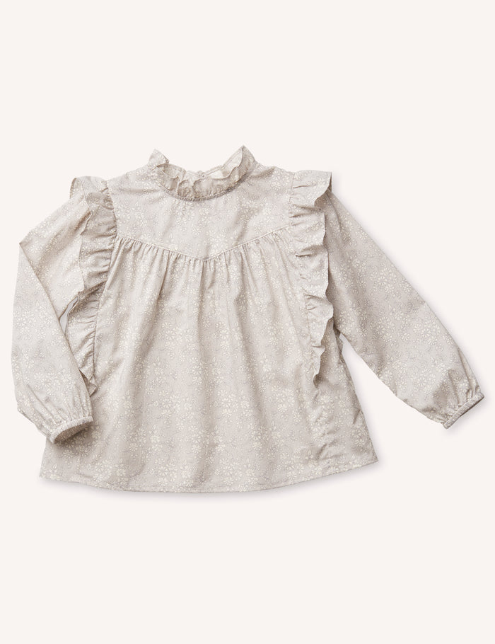 Albertine Ruffle Blouse - Capel Grey
