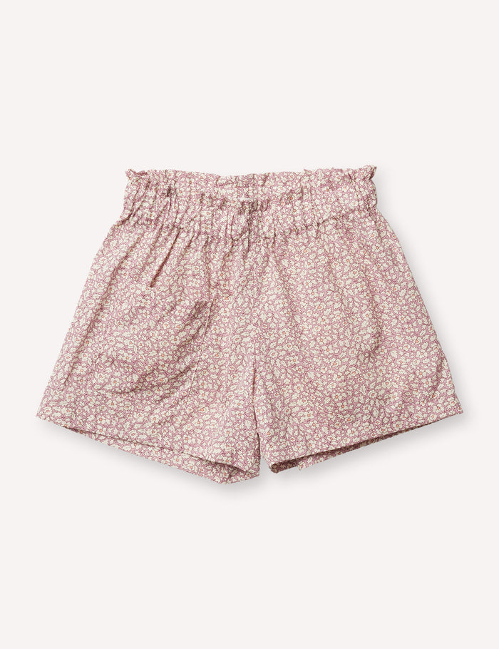Camille Flutter Short - Feather Fields Pink