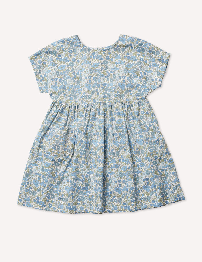 Marie Everyday Dress - Poppy & Daisy Blues