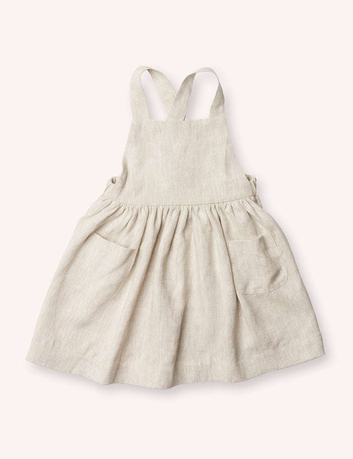 Inès Pinafore Dress - Oatmeal