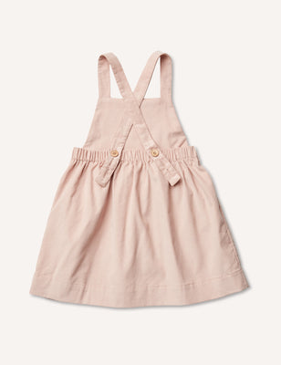 Inès Pinafore Dress - Blush