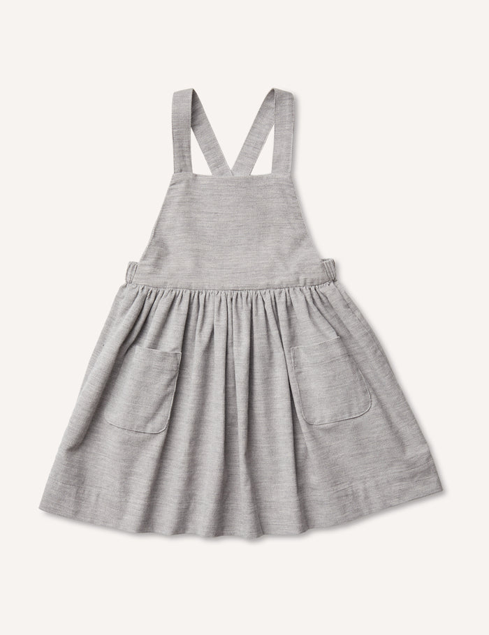 Inès Pinafore Dress - Heather Grey