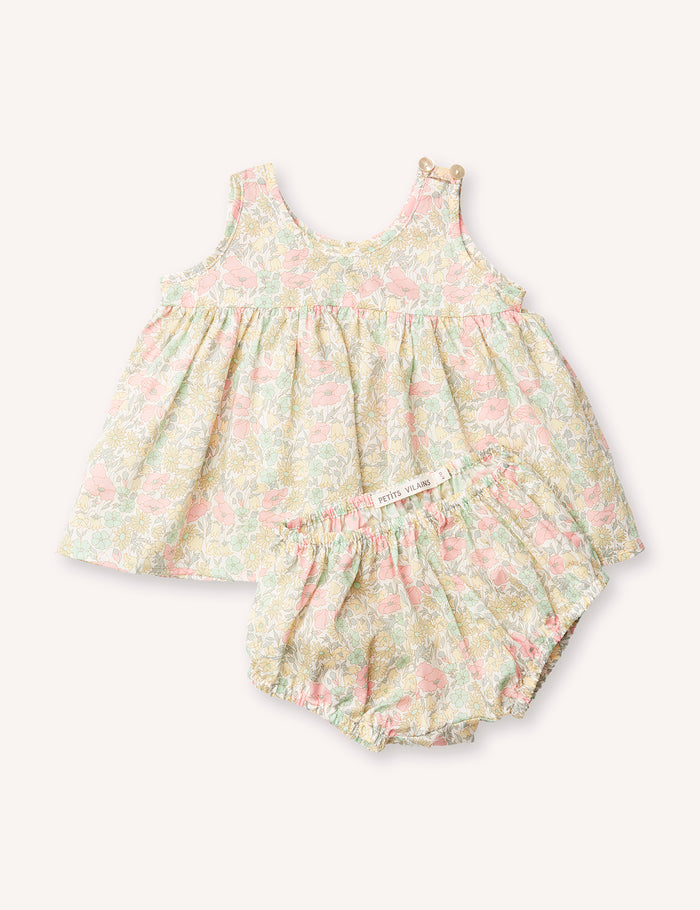 Sophie Babydoll Dress with Matching Bloomers - Poppy & Daisy Pastel