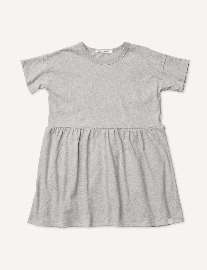 Martine T-Shirt Dress - Heather Grey