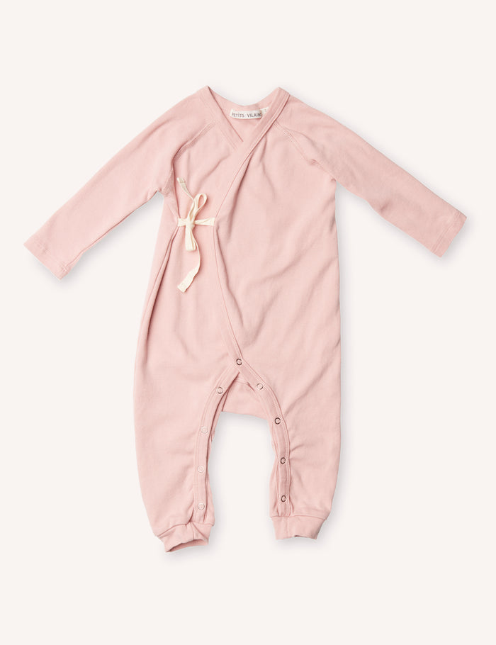 Noé Wrap Onesie - Dusty Pink
