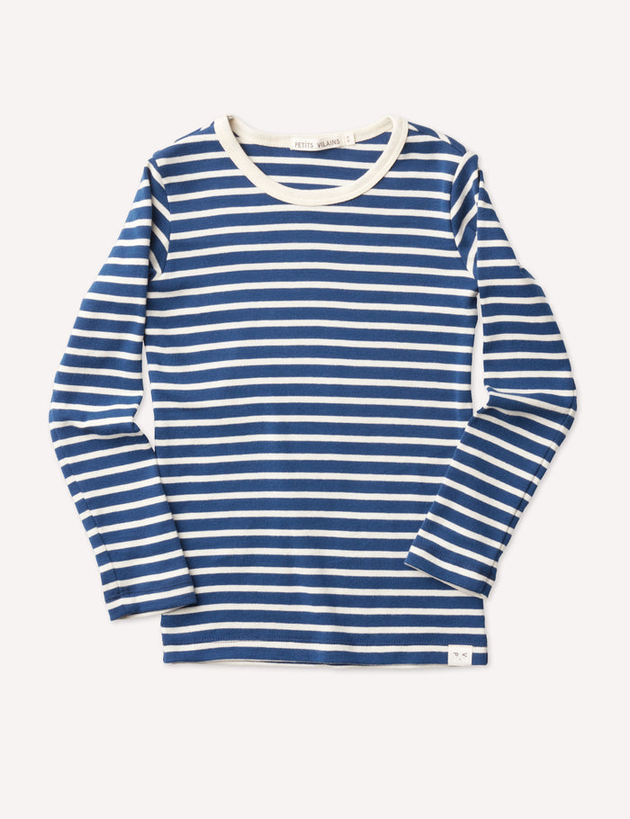 Lucien Long Sleeve - Navy/Natural Stripe