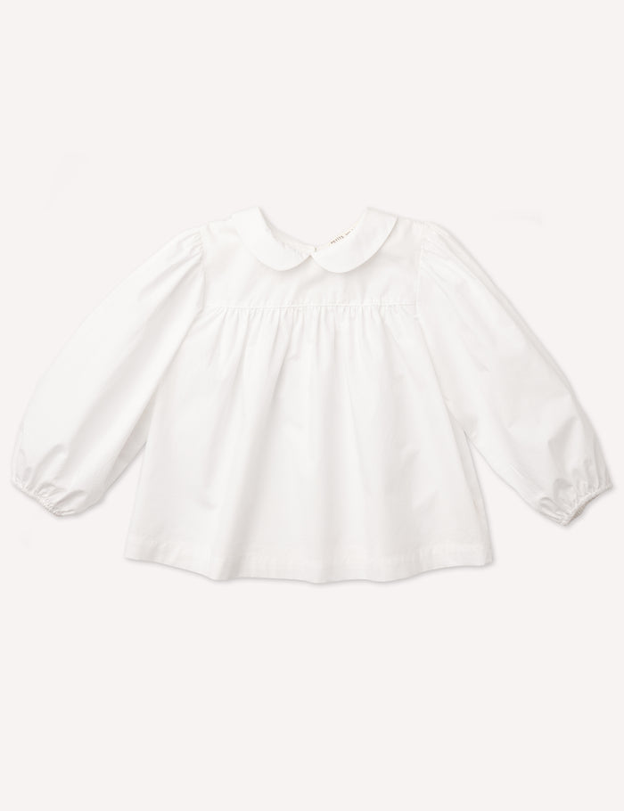 Esther Peter Pan Blouse - White