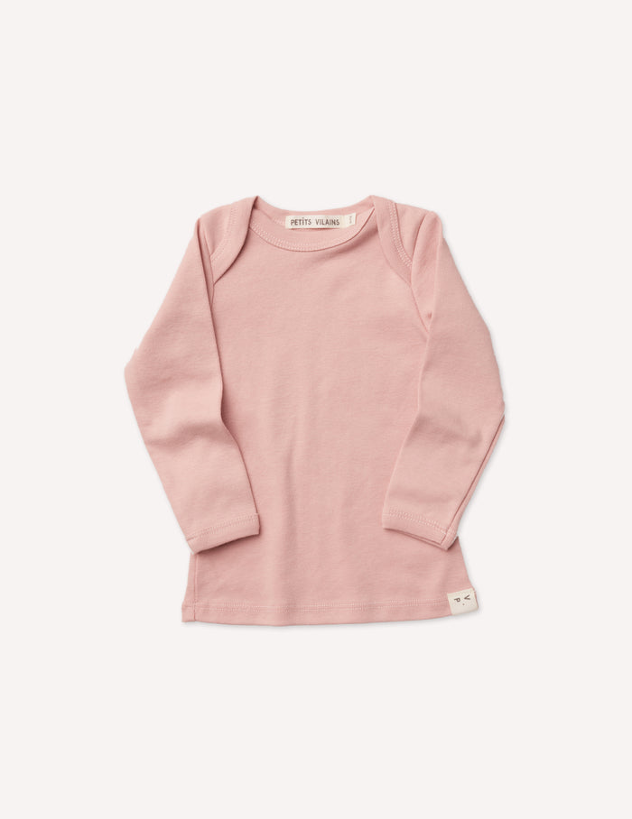 Lilou Long Sleeve Envelope Tee - Dusty Pink