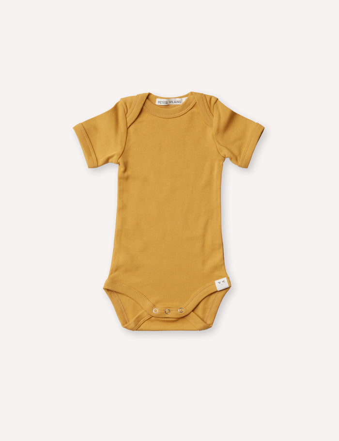Axel Short Sleeve Envelope Onesie - Miel