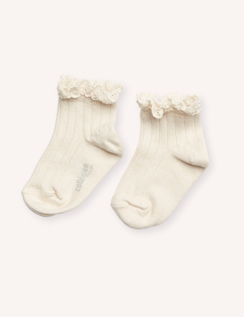 Collégien Lace Trim Ankle Socks