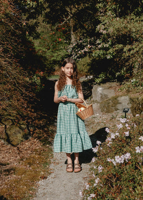 Colette Prairie Skirt - Green Gingham