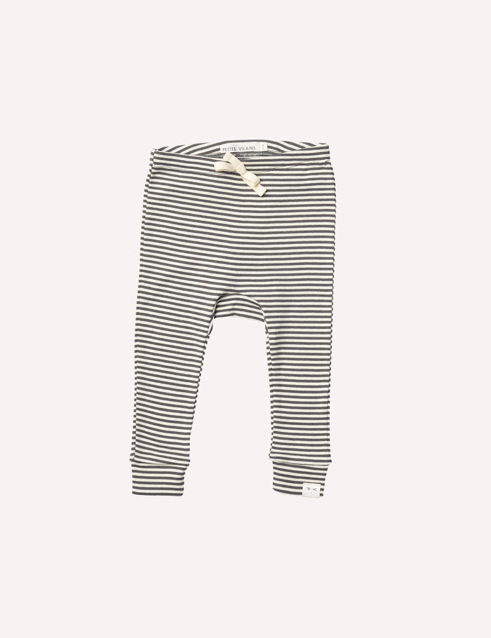 Laurence Legging - Charcoal Mini Stripe