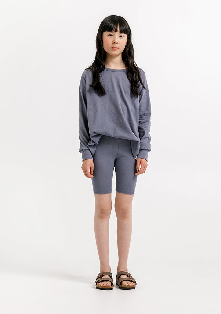Felix Boxy Long Sleeve - Dusty Blue