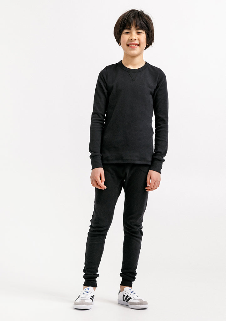 Dominique Long Sleeve Crew - Black