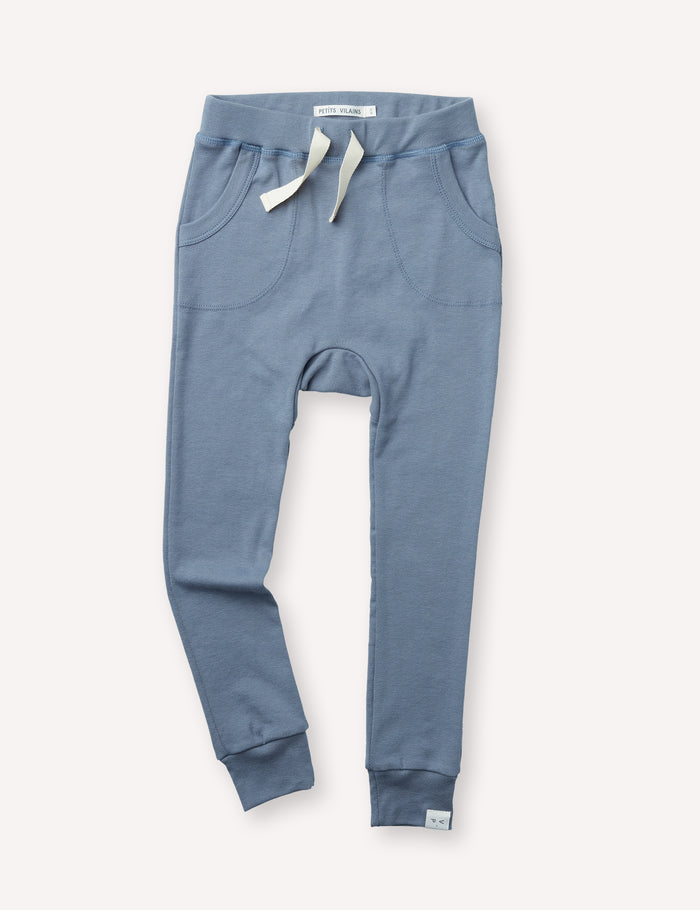 Louie Slim Jogger - Dusty Blue