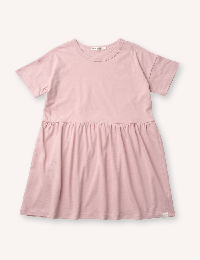 Martine T-Shirt Dress - Dusty Pink