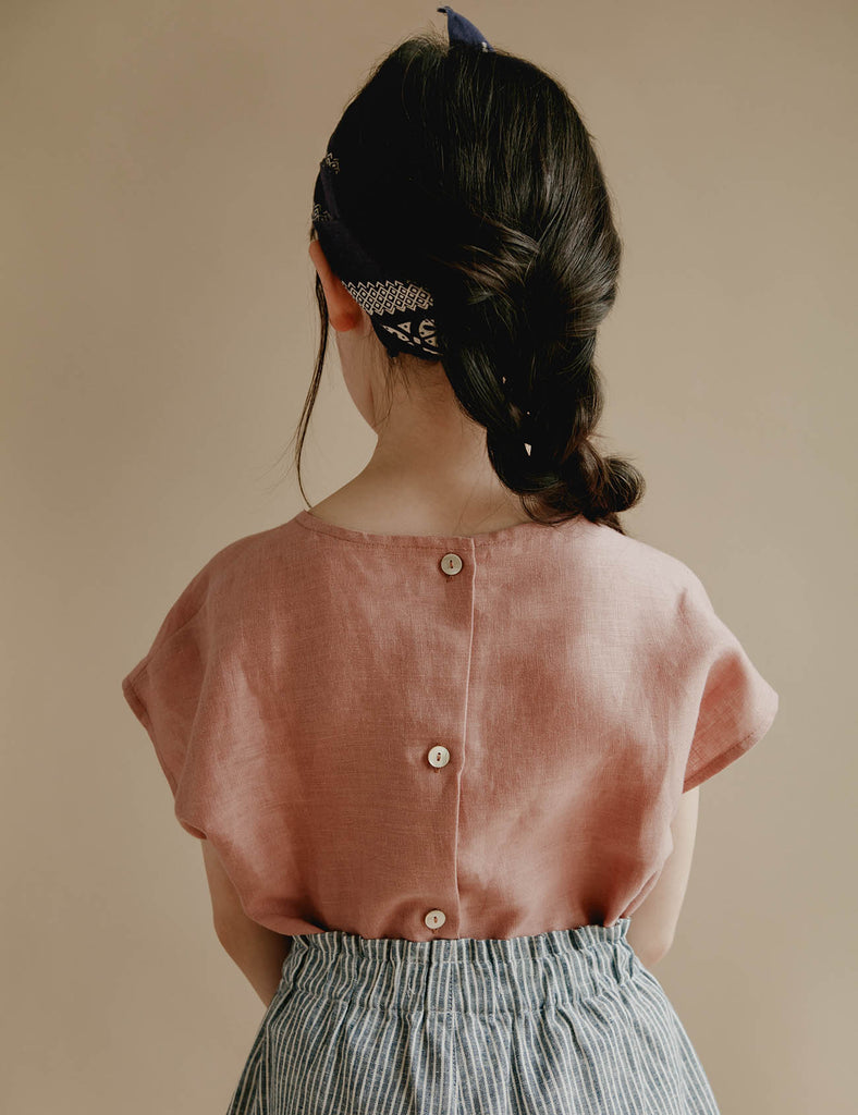 Lou Shell Top - Blush