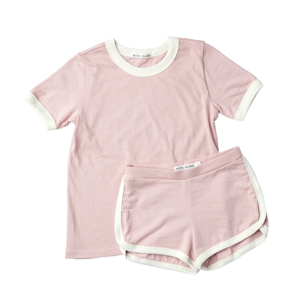 Jean Ringer Tee - Dusty Pink/Natural