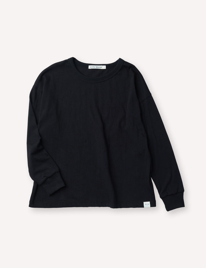 Felix Boxy Long Sleeve - Black